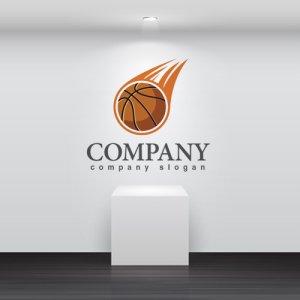 画像2: バスケット・ボール・炎・ロゴ・マークデザイン001