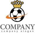 サッカー・ボール・王冠・ロゴ・マークデザイン003
