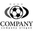 画像4: サッカーボール・輪・楕円・星・グラデーション・ロゴ・マークデザイン009