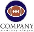アメリカンフットボール・ボール・輪・ロゴ・マークデザイン011