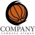 バスケット・ボール・曲線・ロゴ・マークデザイン012