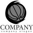 画像4: バスケット・ボール・曲線・ロゴ・マークデザイン012 (4)