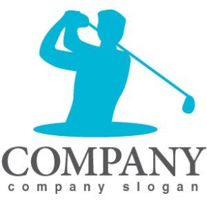 画像1: ゴルフ・人・クラブ・ロゴ・マークデザイン013