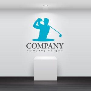 画像2: ゴルフ・人・クラブ・ロゴ・マークデザイン013
