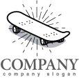 画像1: スケートボード・ロゴ・マークデザイン014 (1)