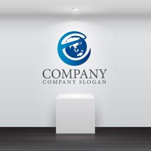 画像2: e・地球・アルファベット・保護・ロゴ・マークデザイン171
