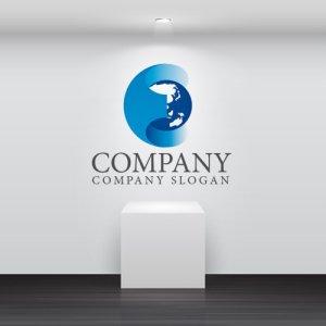 画像2: E・地球・アルファベット・グラデーション・ロゴ・マークデザイン172