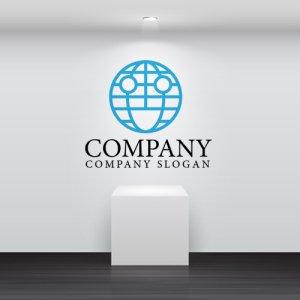 画像2: 地球・笑顔・線・ロゴ・マークデザイン208