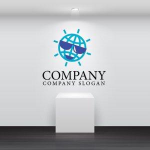 画像2: 地球・サングラス・顔・休暇・ロゴ・マークデザイン250