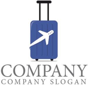 画像1: 旅行・スーツケース・飛行機・ロゴ・マークデザイン040