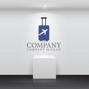 画像2: 旅行・スーツケース・飛行機・ロゴ・マークデザイン040